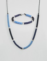 ICON BRAND Beaded Bracelet & Necklace In 2 Pack