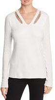T Tahari Micky Embellished Cutout Sweater