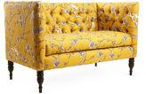 Skyline Furniture Liza 52 Tufted Settee, Marigold
