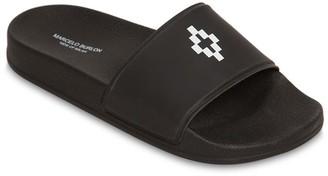 Marcelo Burlon County of Milan Logo Printed Rubber Slide Sandals
