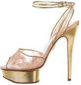 Charlotte Olympia PVC Platform Sandals