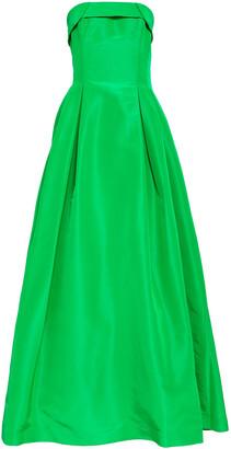 Sachin + Babi Strapless Pleated Silk-taffeta Gown