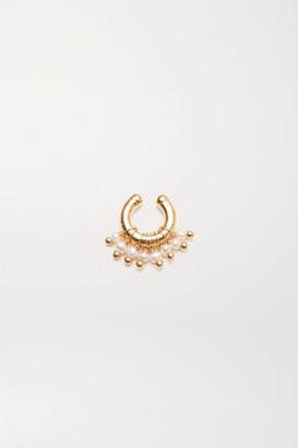 Eliou Regina Gold-plated Pearl Ear Cuff - one size