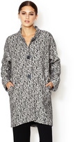Lafayette 148 New York Cocoon Button Front Lace Coat