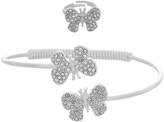 Monsoon Diamante Butterfly Cuff & Ring Set