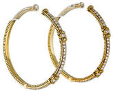 Judith Ripka 18K Diamond Hoop Earrings