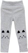 Weixinbuy Kids Girl Baby Cat Print Tight Toddler Stretch Leggings Pants