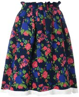 MSGM floral pleated skirt