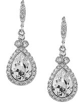 Givenchy Crystal Pav Pear Drop Statement Earrings