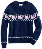 Vineyard Vines Girls' Intarsia Whale-Print Sweater