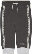 HUGO BOSS Taper logo cotton jogging bottoms 6-36 months