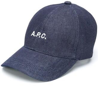 A.P.C. Embroidered Logo Denim Cap