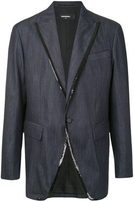 DSQUARED2 Single-Breasted Blazer With Sequin Edging
