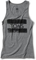 Toms Unisex Grey Stamp Tank