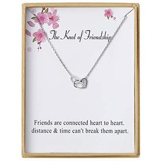Sannyra Knot of Friendship Pendant Necklace with Message Card Gift Card for Women