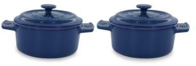 Fontignac Ceramic Round Mini Cocotte in Blue