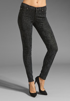 7 For All Mankind The Skinny in Black/Grey Laser Snake
