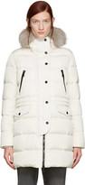 Moncler Ivory Fur and Down Fragonette Coat
