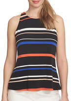 Cece Twist Back Playful Stripe Halter Top
