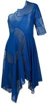 Stella McCartney asymmetric mesh cut-out dress