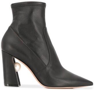 Nicholas Kirkwood MIRI stretch boots 90mm