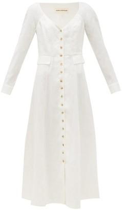 Mara Hoffman Silvana V-neck Hemp Midi Dress - White