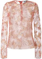 MSGM sheer floral blouse
