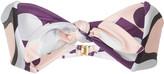 Cin Cin Abstract Print Bandeau Bikini Top