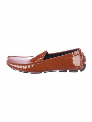 Prada Patent Leather Loafers Brown