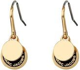 Marc Jacobs Logo Disc Enamel Logo Disc Earrings Earring