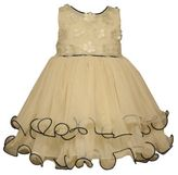 Bonnie Baby Appliqued Bodice Sleeveless Ballerina Dress in Ivory/Black