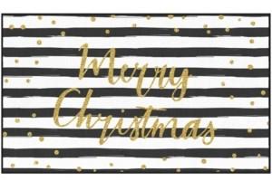 "Mohawk Christmas Stripe Accent Rug, 18"" x 30"" Bedding"