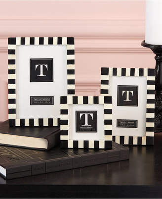 Twos Company Two Company Domino Striped Frames, Set of 3