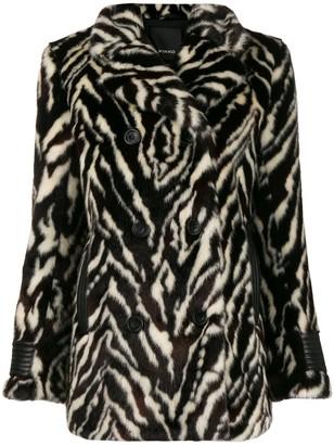 Pinko textured animal print jacket