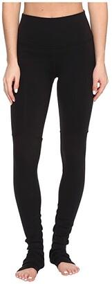 Alo High Waisted Goddess Leggings (Black/Black) Women's Casual Pants