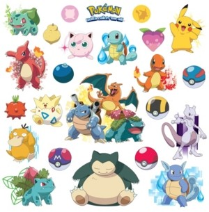 York Wall Coverings York Wallcoverings Pokemon Iconic Peel and Stick Wall Decals