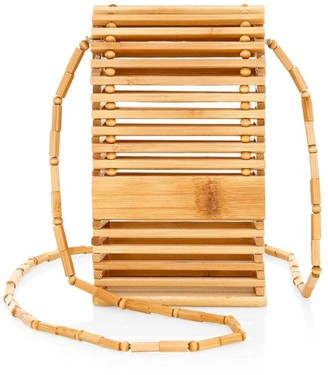 Cult Gaia Slyva Bamboo Wood Crossbody Bag