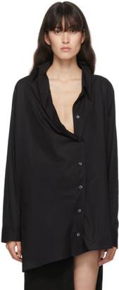 Ann Demeulemeester SSENSE Exclusive Black Oversized Belted Shirt