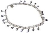 Chanel Silver-Tone Metal Chain CC Logo Coco Mark Bracelet
