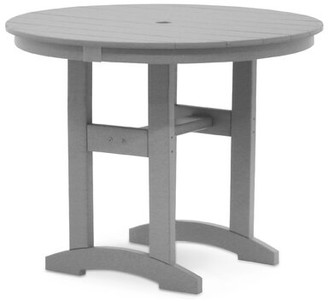 """Gracie Oaks Anderton 34"""" Dining Table Gracie Oaks Table Base Color: Weathered Wood, Table Top Color: Weathered Wood"""