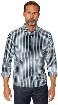 Michael Kors Two-Color Plaid (Atlantic) Men's Clothing