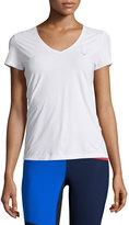 Lucas Hugh Core Performance V-Neck Short-Sleeve T-Shirt, White