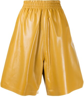 Bottega Veneta Leather Knee-Length Shorts