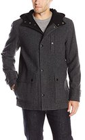 Kenneth Cole New York Men's Tweed Wool Duffle Coat