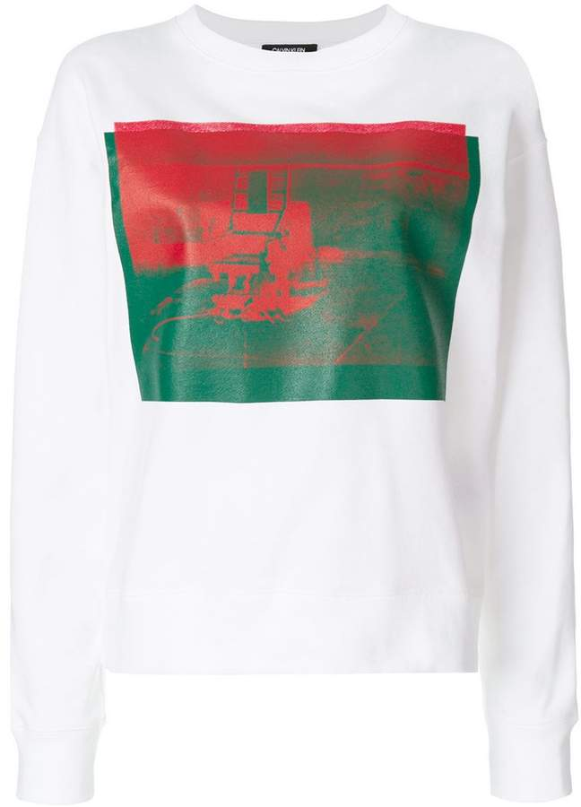 Calvin Klein x Andy Warhol Foundation Little Electric Chair sweatshirt