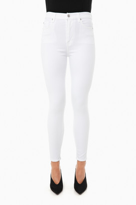 7 For All Mankind Luxe White High Waisted Ankle Skinny