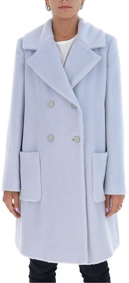 Alberta Ferretti Double-Breasted Tailored Coat