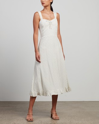 Faithfull The Brand Women's White Midi Dresses - Videlio Midi Dress - Size 6 at The Iconic