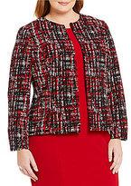 Kasper Plus Printed Twill Jacket