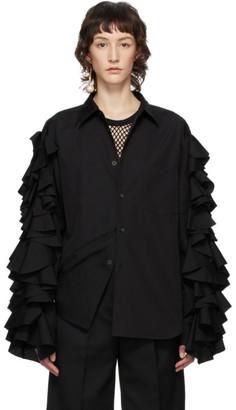 Comme des Garçons Homme Plus Black Ruffle Sleeve Shirt